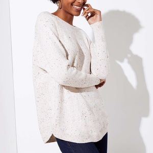 Loft Flecked Dolman Sweater Speckled Whipped Color